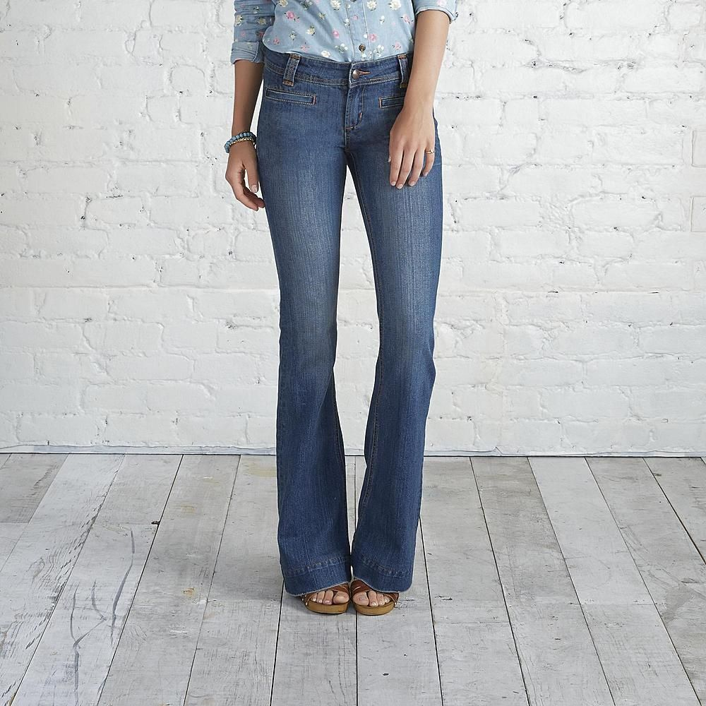 Adam Levine Women S Bell Bottom Jeans Vintage Wash With Images