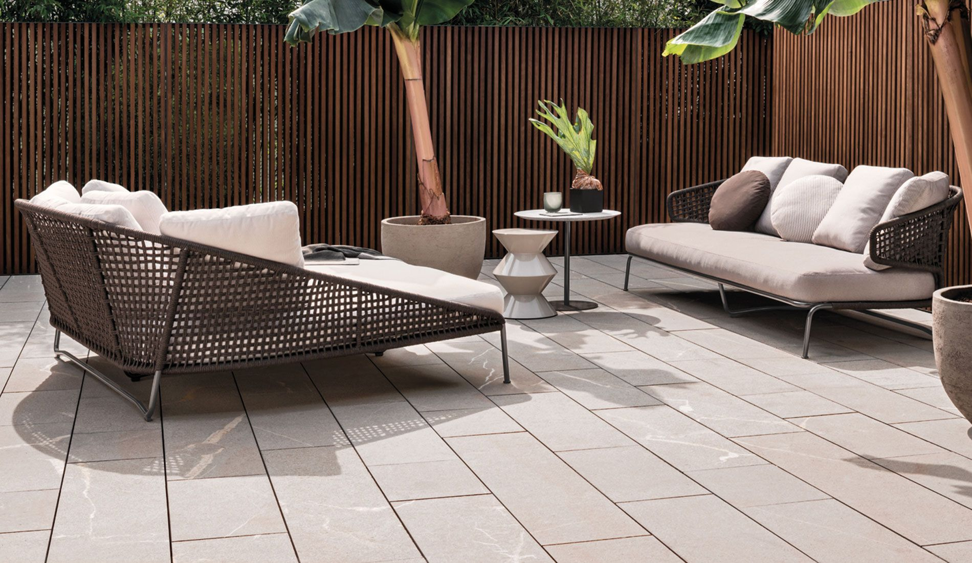 Minotti Aston Cord Outdoor Loveseat Lounge Outdoor