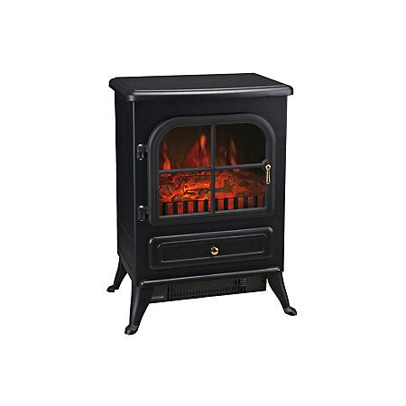 Akershus Black Electric Stove Departments Diy At B Q Free Standing Electric Fireplace Wood Stove Fireplace Wood Stove