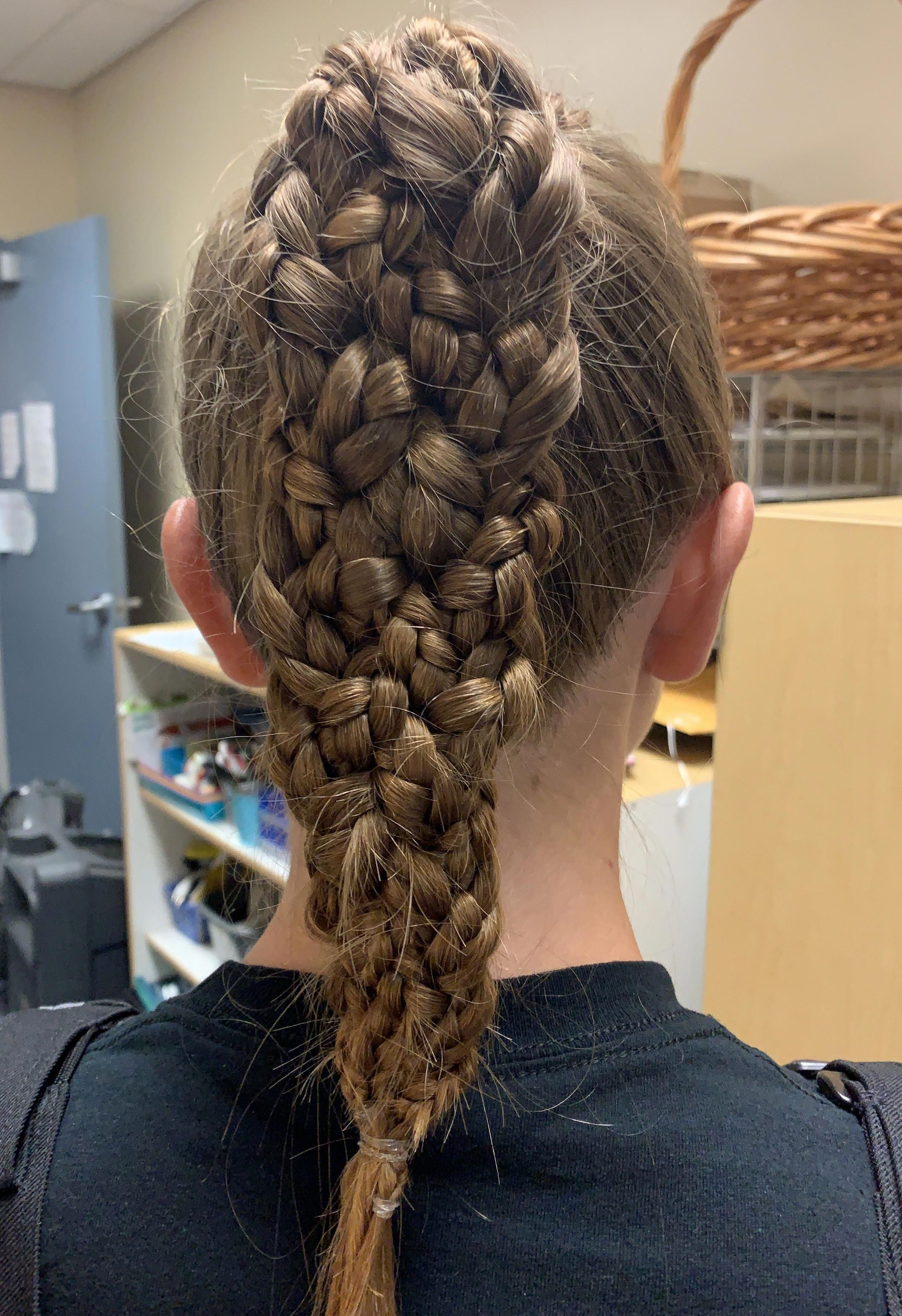 5strand Braid Braids Braids With Extensions Cost Dutch Ponytail Popular New No Cost In 2020 Braids With Extensions Braided Ponytail Braided Hairstyles