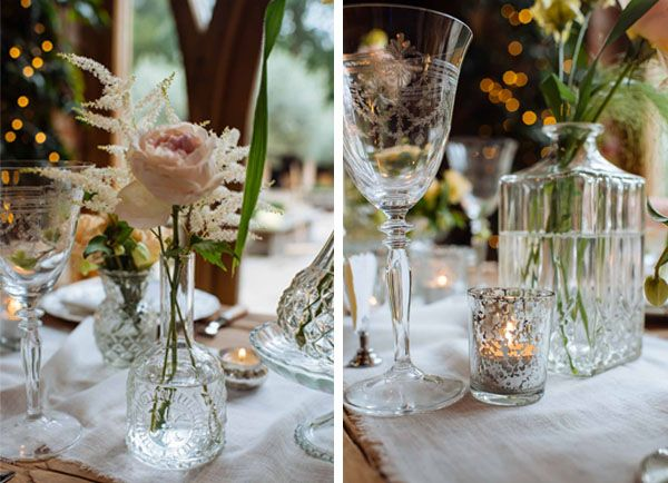 Wedding long table mercury glass tealight bud vases google romantic glamour wedding ideas table decorations from the wedding of my dreams junglespirit Images