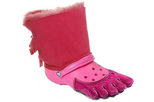 cd4746edfd6 The worst fashion combinations, croc-ugg hybrid, ridiculously ugly ...