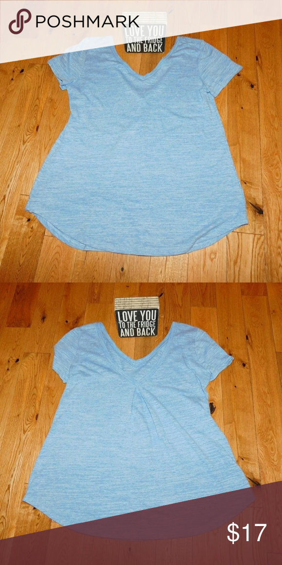 Blue tee from #shophopes Comfy, v-back, stylish comfort Tops Tees - Short Sleeve