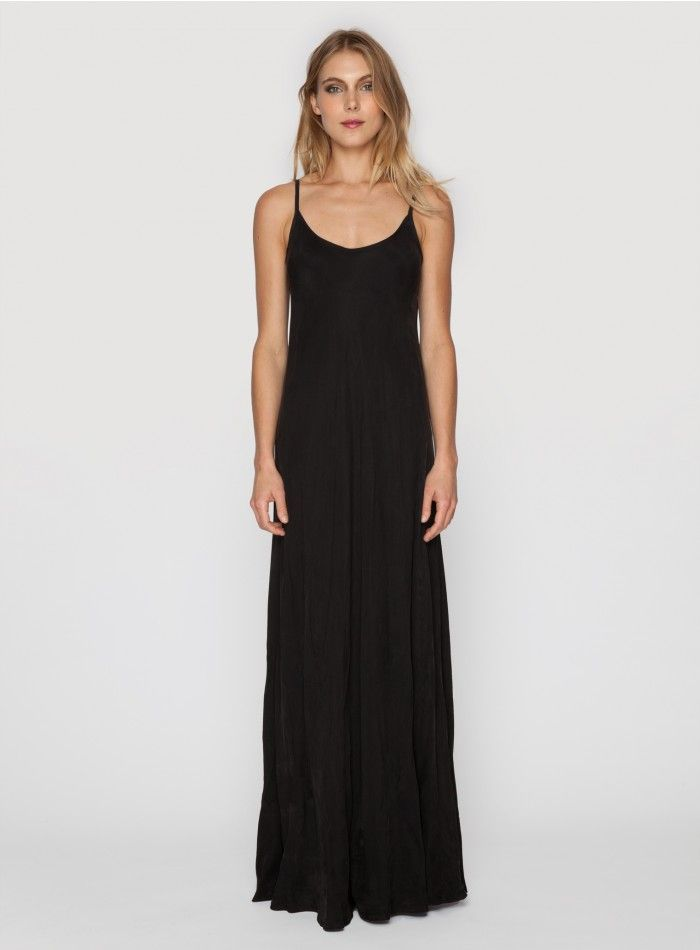 Maxi dress under slip skirt