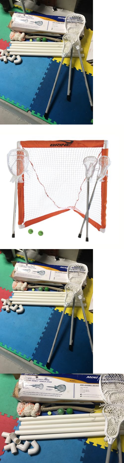 other lacrosse 16043 lacrosse set mini sticks goalie stick goal