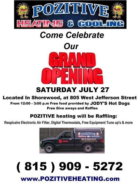 Come Celebrate Our Grand Opening In Shorewood Electronic Air