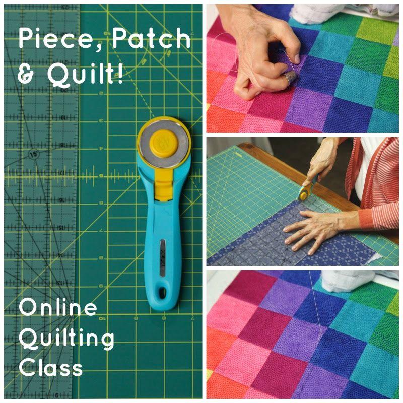 Free quilting class! Whether you're renewing your love of quilting ... : free quilting tutorials online - Adamdwight.com