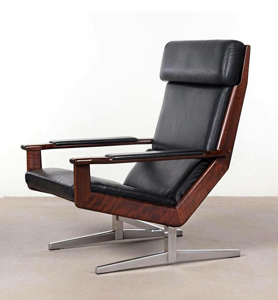 Outstanding Rosewood And Leather Lotus Lounge Chair Designed By Rob Pdpeps Interior Chair Design Pdpepsorg