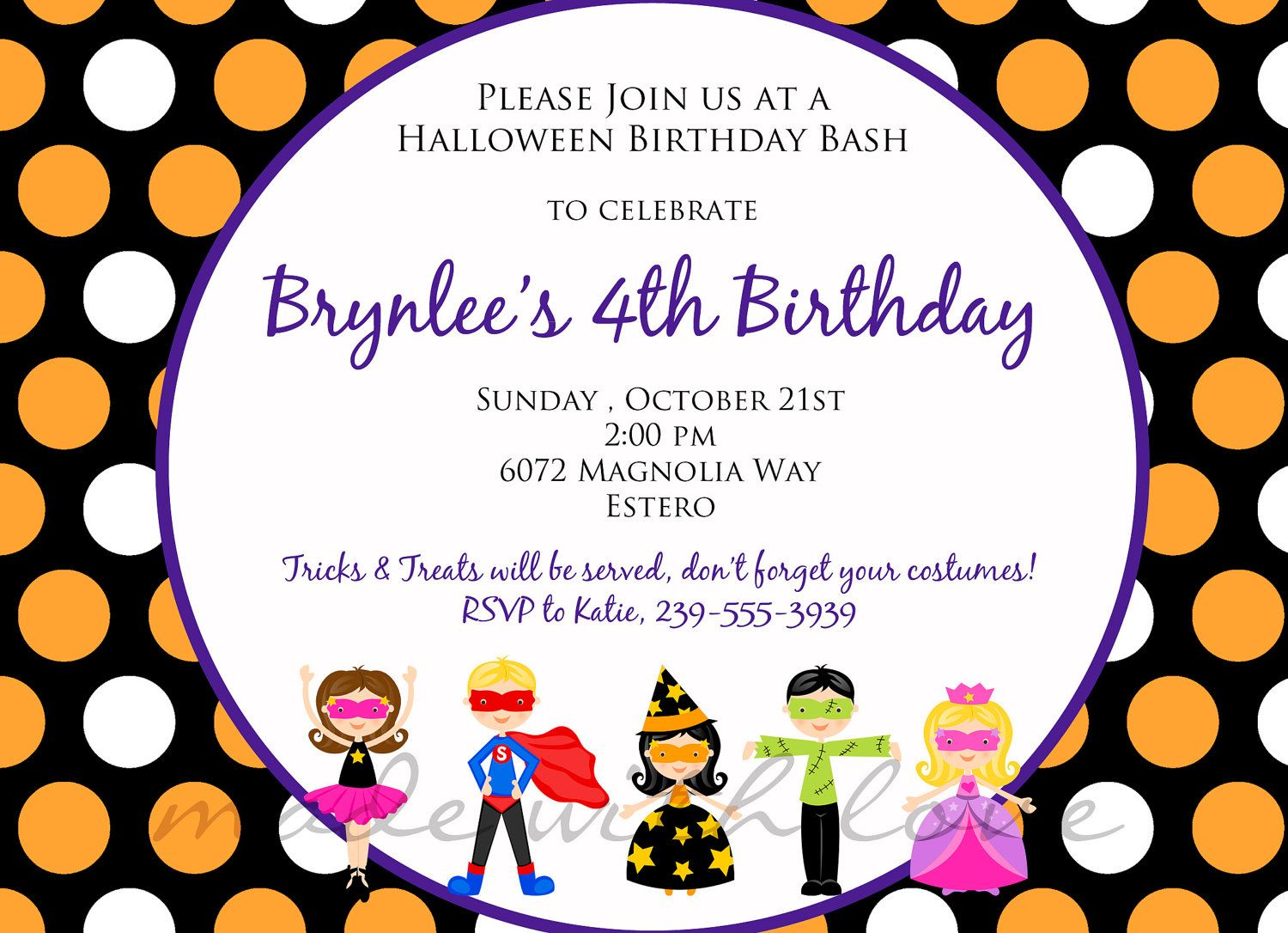 Princess Birthday Party Invitation – Sample Kids Birthday Invitation