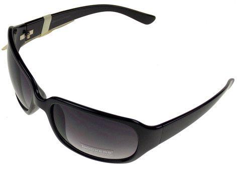 f5c3c36bd50 Levi Strauss DOCKERS Sunglasses Women 100%UV Rectangular Black Plastic  63-18-125