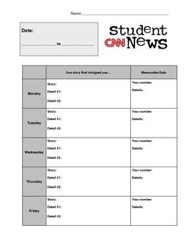 Cnn Student News Daily Worksheet