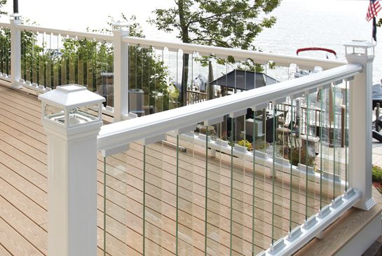 Pin By House Of Forgings On Decking Ideas Deck Railing Design Deck Balusters Glass Railing Deck