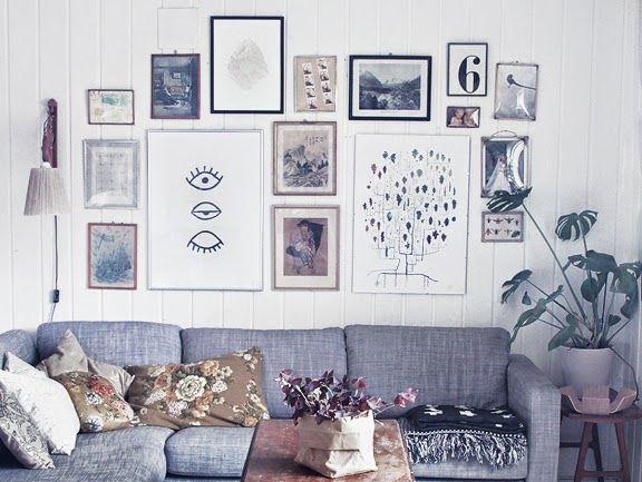 an-magritt: Art wall in my livingroom
