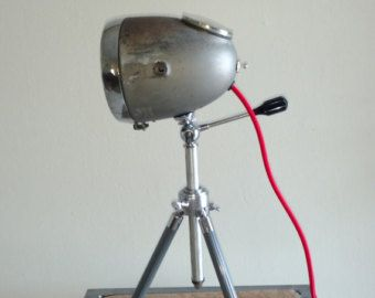 Delightful Vintage Motorcycle Headlight Table Lamp By TheModernWeld On Etsy