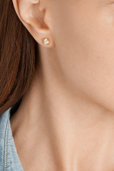 Melissa Joy Manning 14-karat Gold Chrysoprase Earrings F3zhH2y