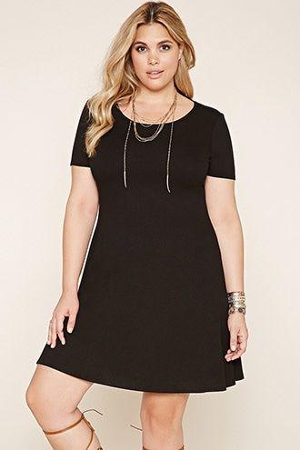 Plus Size Ribbed Cutout Dress