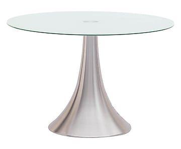 Tavolo rotondo in metallo e vetro Cry - d 110 cm | Idee per la ...