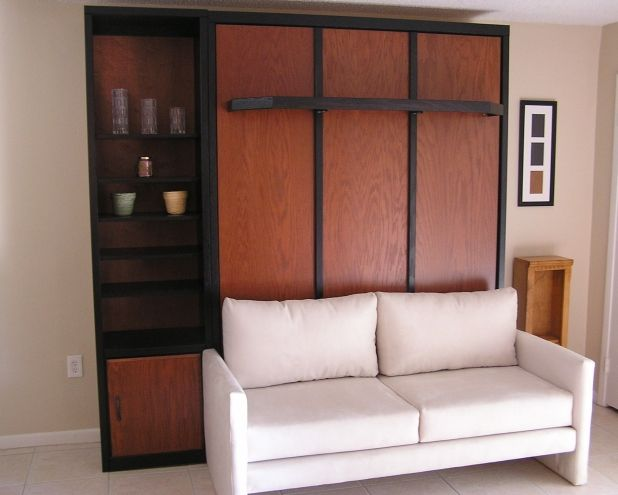Murphy Bed With Couch Beauteous Bedroom Solid Wood Murphy