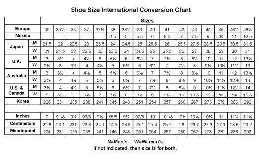 Size Chart Shoes Us T 236 M Với Shoes Fashion Designs Shoes