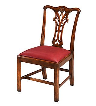 The Intricately Carved And Pierced Back Splat Is Hallmark Of A Chippendale Mahogany Side Chair