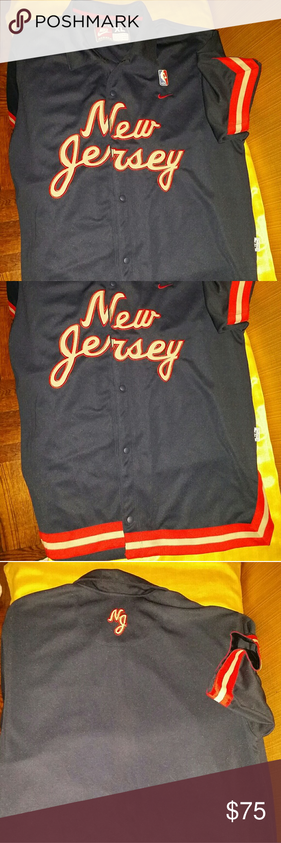 best service 2fa48 15a87 Vintage New jersey Nets warm up jacket Vintage New Jersey ...
