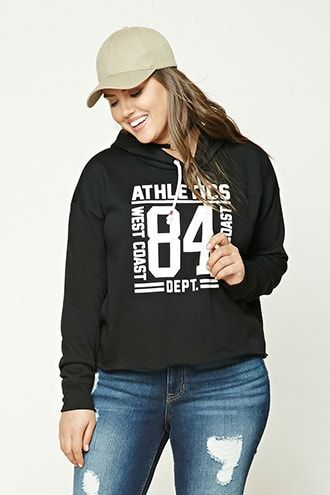 Plus Size Graphic Hoodie