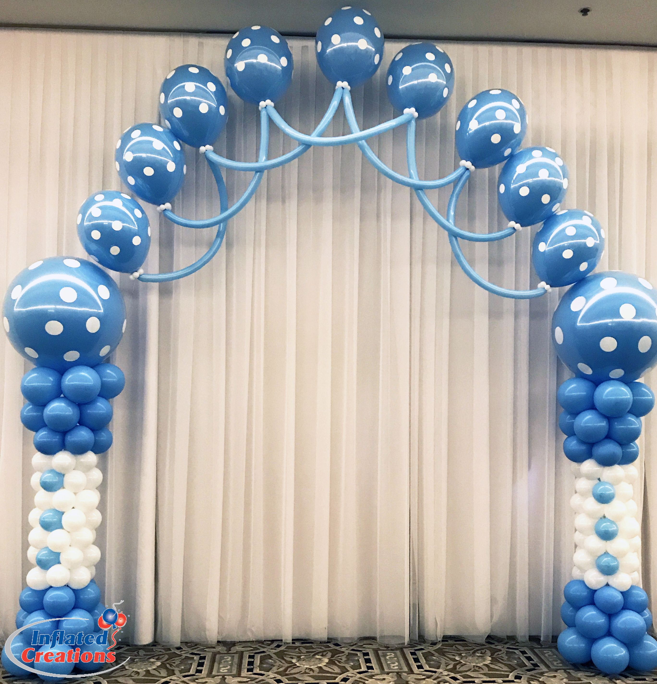 Balloon arch baby boy | Baby shower balloons | Pinterest | Arch ...