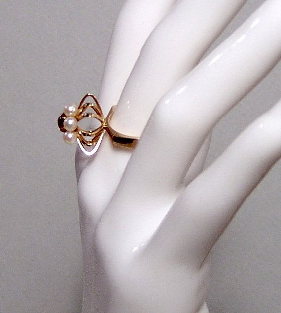 Stunning Elis Kauppi 14k rose gold cocktail ring by ForeverSexy