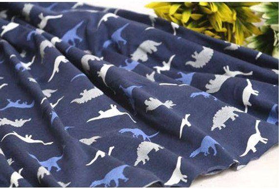 d4a3f46e791 Dinosaurs Knit Fabric/baby boy knit fabric/baby jersey knit   Etsy ...