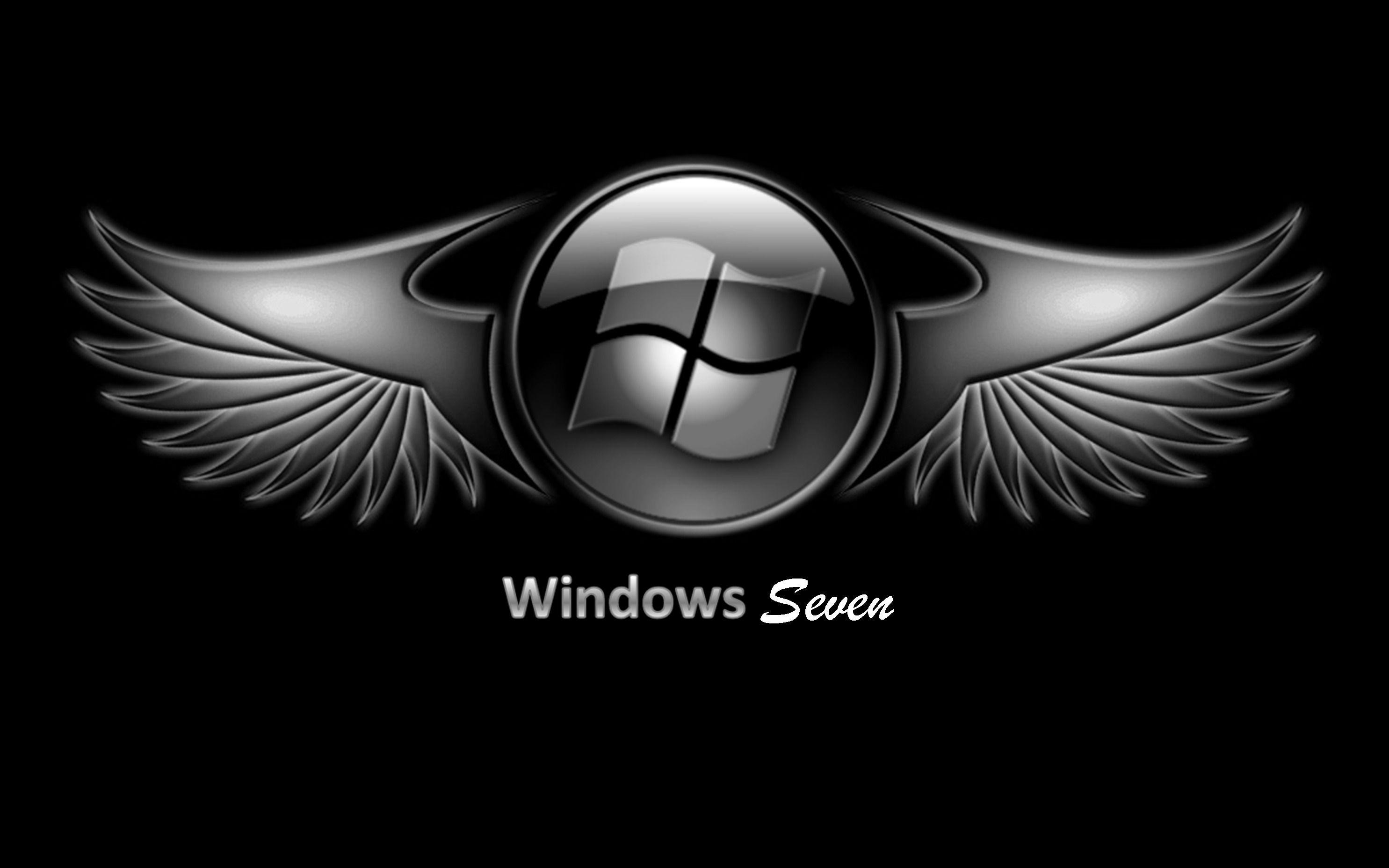 microsoft windows 7 black logo wallpaper 16 10 widescreen wallpapers