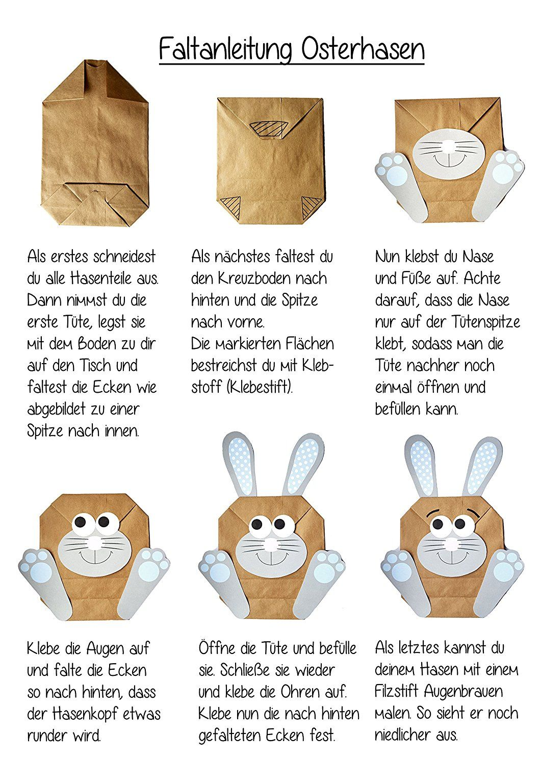 diy osterhasen zum selber basteln und bef llen ein geschenk von herzen zu ostern osterhase. Black Bedroom Furniture Sets. Home Design Ideas