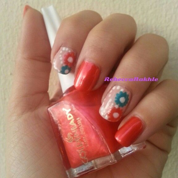 January Nail Art Challenge by Californails Day 2: Fresh. Orange and ...