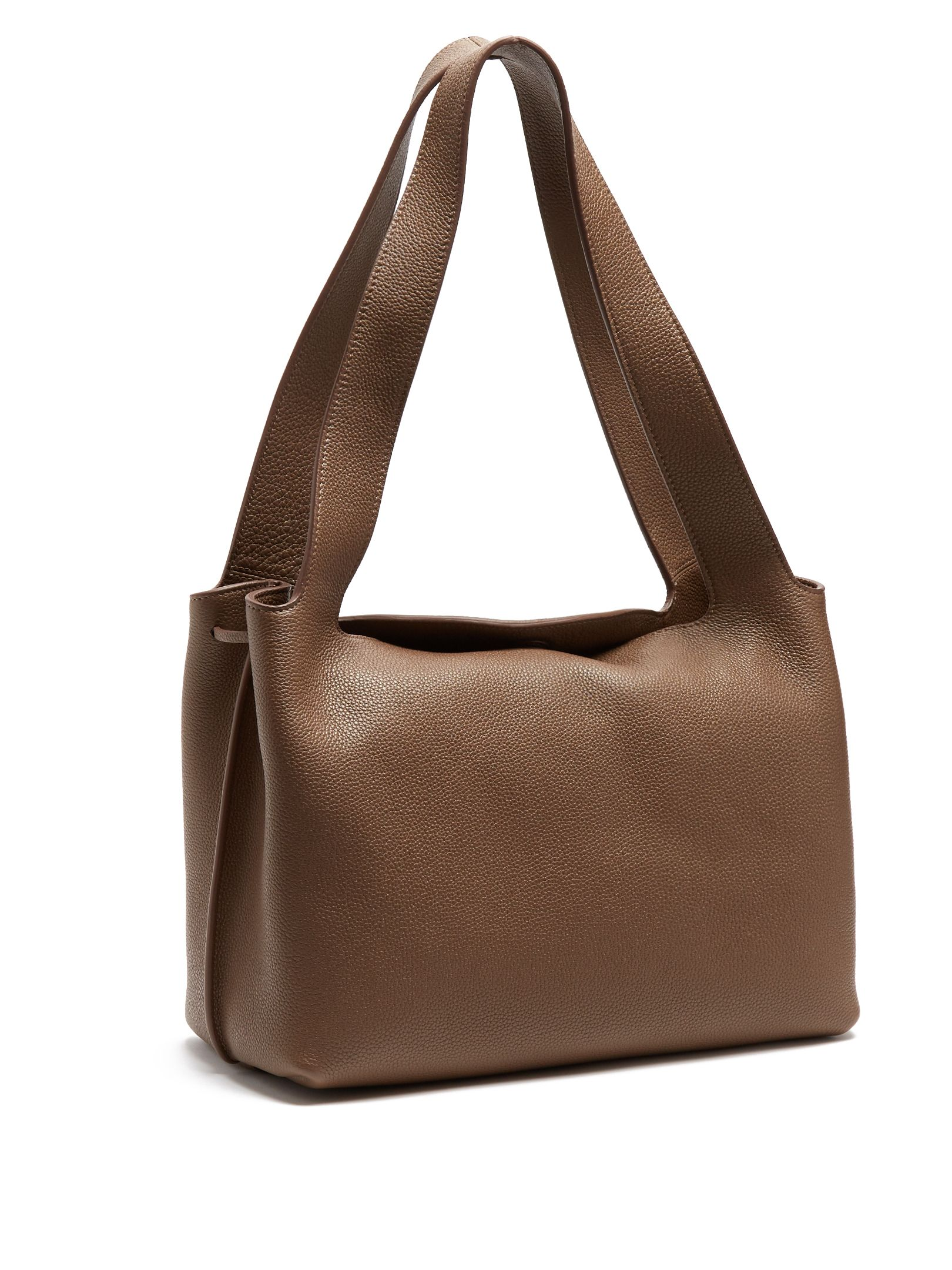 Duplex Small leather shoulder bag The Row fXEOSd1y