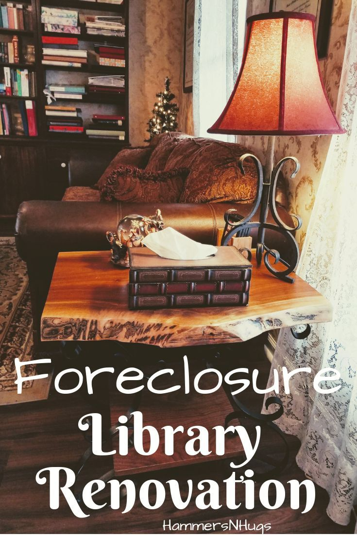 Forclosure Remodel: Colonial Foreclosure Library Renovation