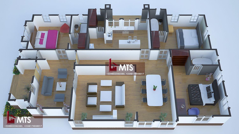 12 Bedroom bungalow  Bungalow floor plans, 12 bedroom bungalow