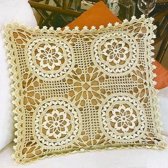 Crochet Pillow Cover Free Pattern 6 Pinterest Crochet