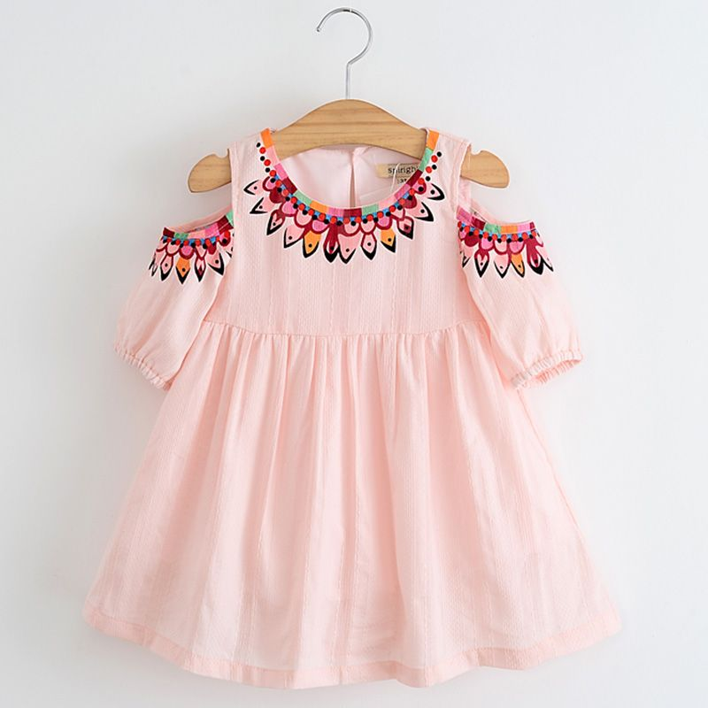 0e97104ac0 Baby Girls Dress Pink 2017 Summer Cute Baby Girls Dresses Flower Printed  Dresses for Girl Princess Mini Dress Children Clothes