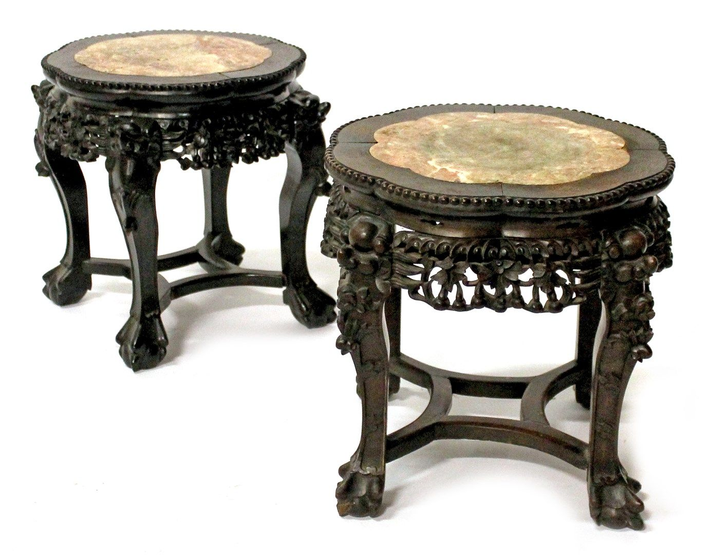 Asian urn stands
