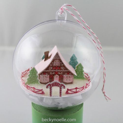 Gingerbread House Ornament | life outside the lines by Beckynoelle