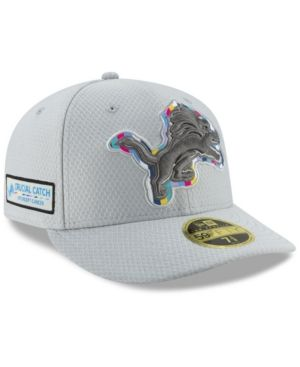 wholesale dealer 7e928 28bed New Era Detroit Lions Crucial Catch Low Profile 59FIFTY Fitted Cap - Gray 7  1 4