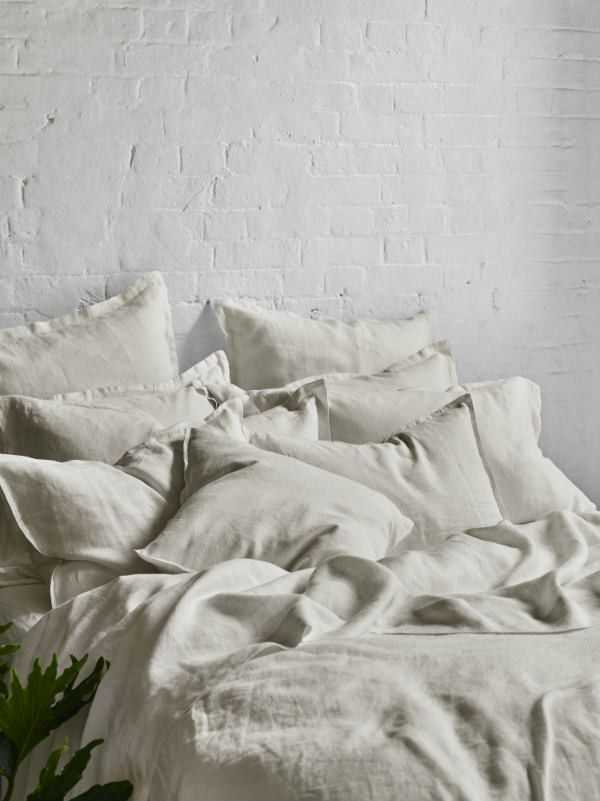Pure Linen Bed Sheet Set In Sand | Bed Linen | Sheets On The Line