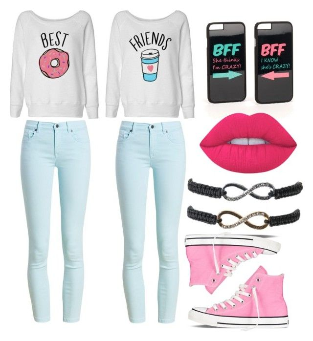 """""""Bff"""" by sabichoux1427 ❤ liked on Polyvore featuring JFR, Barbour, Converse and Lime Crime"""
