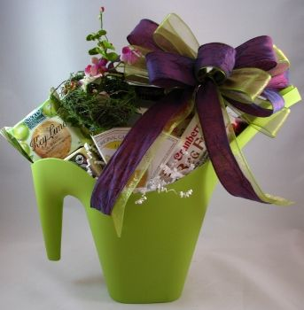 spring pitcher garden gift basket the birds are chirping spring is on its way