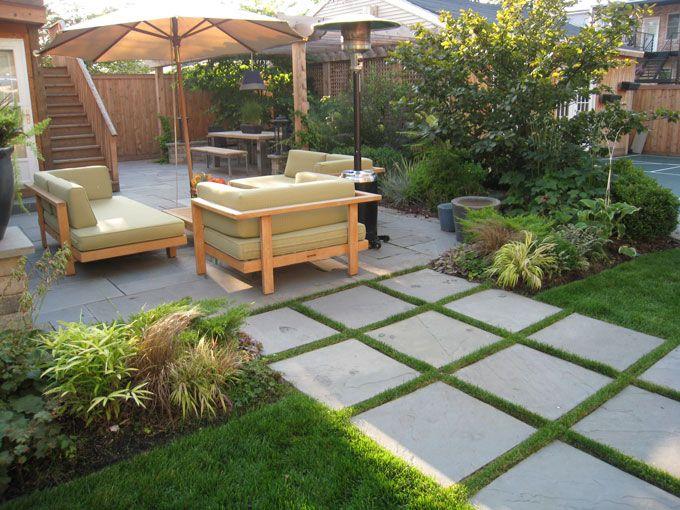 Large Bluestone Pavers A Secret Garden Patio Backyard Patio Flooring