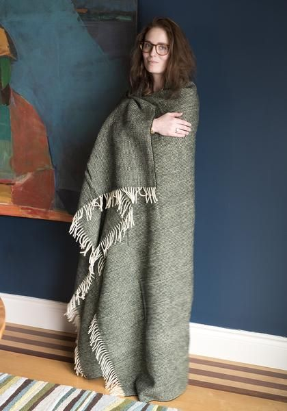 Harlow Henry Chalet Throw Moss