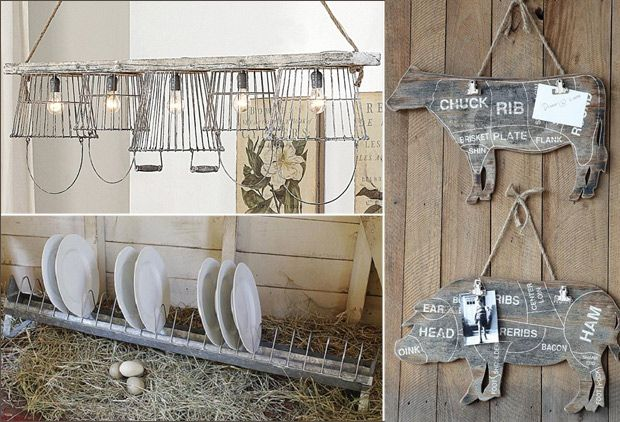 Farmhouse décor industrial décor shabby chic