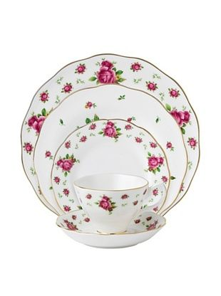 55% OFF Royal Albert New Country Roses Vintage 5-Piece Place Setting, White