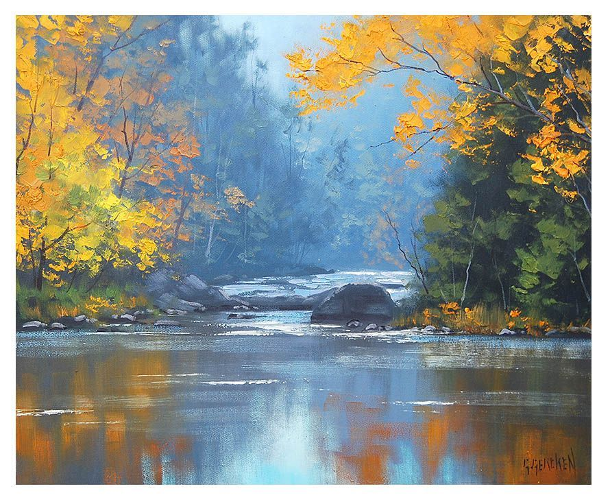 Pin on Art: Thick Oils & Pastel Landscape Paintings by