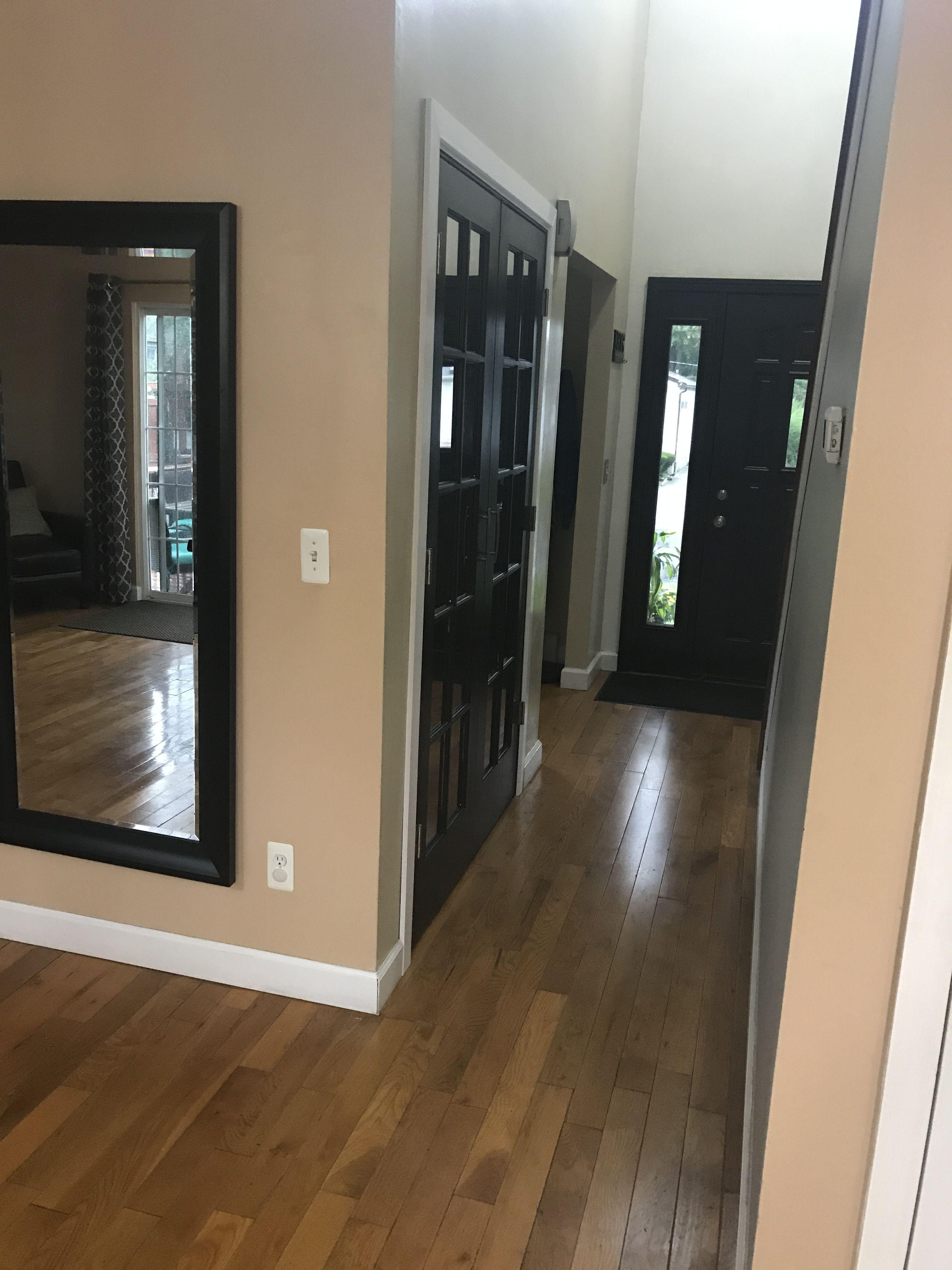 Front Foyer Closet Doors : Black french doors for closet to match front door in foyer