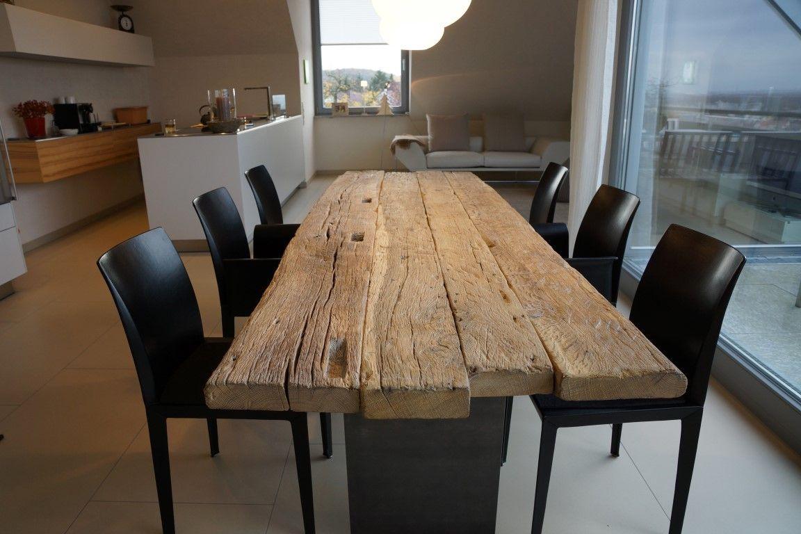Zwinz Tisch Altholz Eiche Massiv Fallende Langen Alter Holztisch Altholz Eiche Tisch